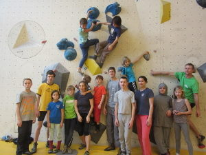 Training in der Bouldercity